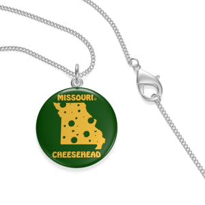 MISSOURI Single Loop Necklace (GREEN)
