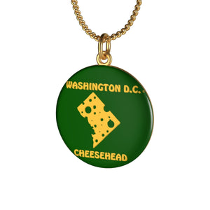 WASHINGTON D.C. Single Loop Necklace (GREEN)