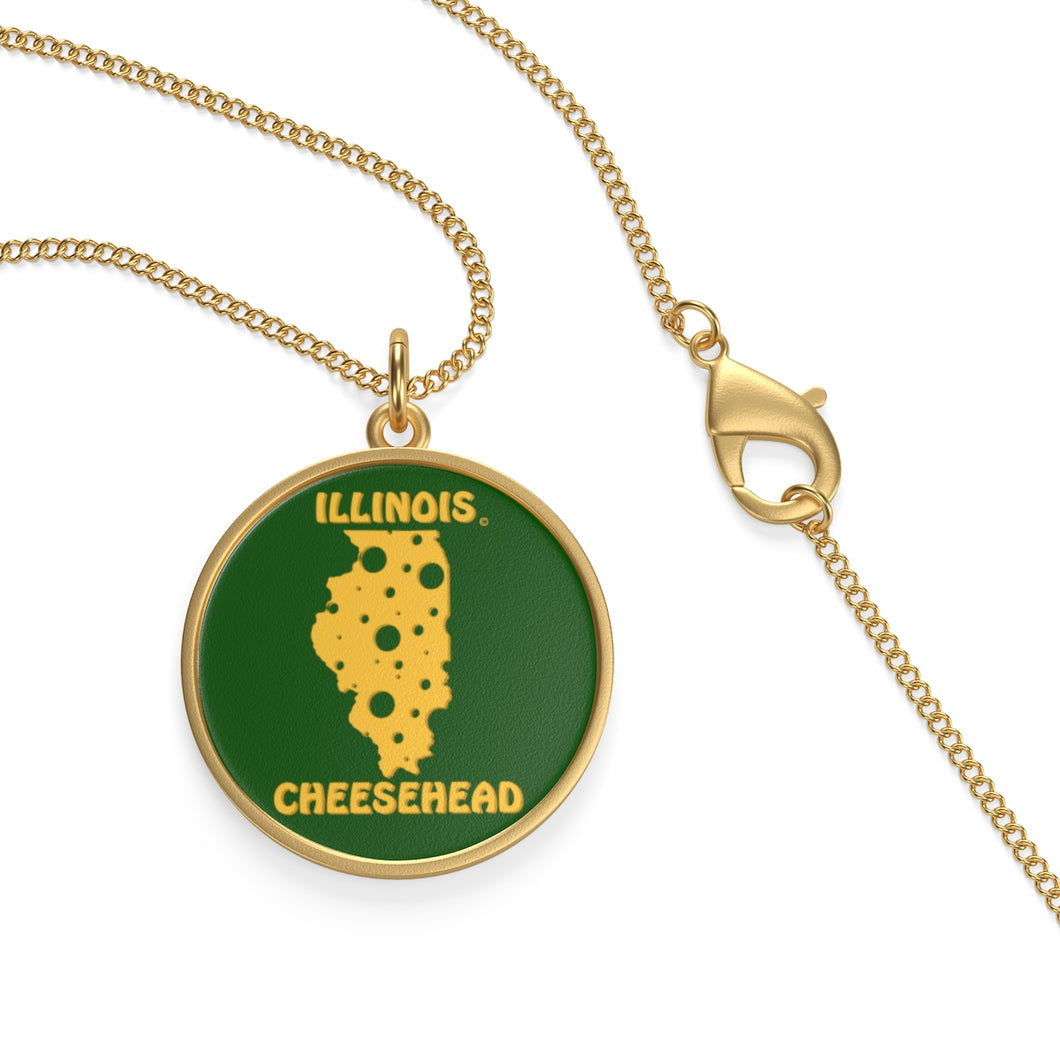 ILLINOIS Single Loop Necklace (GREEN)