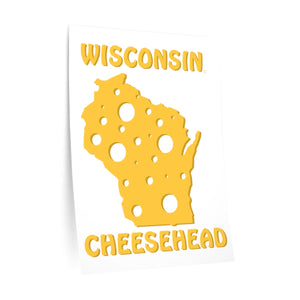 WISCONSIN Cheesehead Wall Decal
