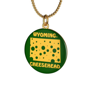 WYOMING Single Loop Necklace (GREEN)