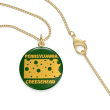 Load image into Gallery viewer, PENNSYLVANIA Single Loop Necklace (GREEN)