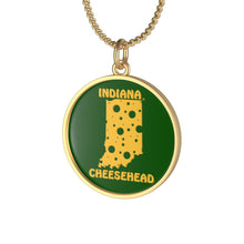 Load image into Gallery viewer, INDIANA Single Loop Necklace (GREEN)
