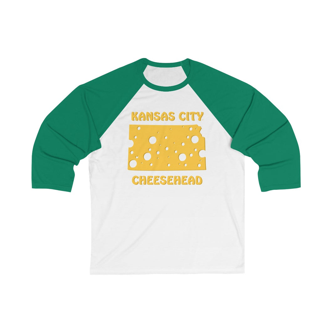 KANSAS CITY Unisex 3/4 Sleeve Baseball Tee