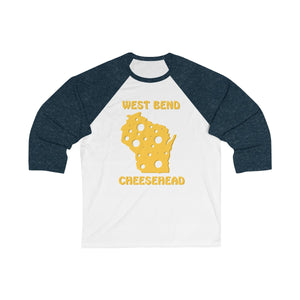 WEST BEND Unisex 3/4 Sleeve Baseball Tee