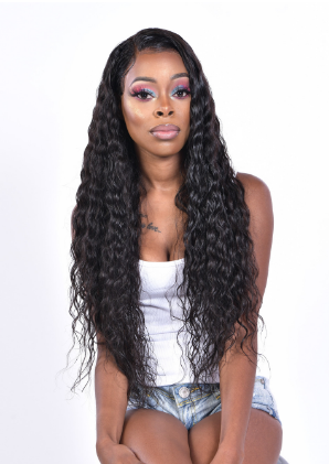 beach wave lace front wig