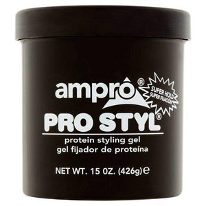 Ampro Pro Styl Super Hold Protein Styling Gel 15 oz