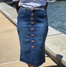 Load image into Gallery viewer, Alberta  Denim Skirt