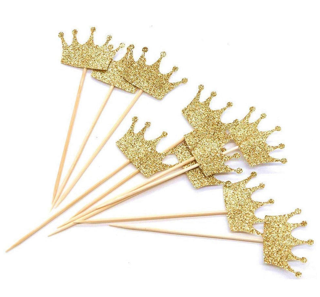 Crown Cupcake Toppers (6)