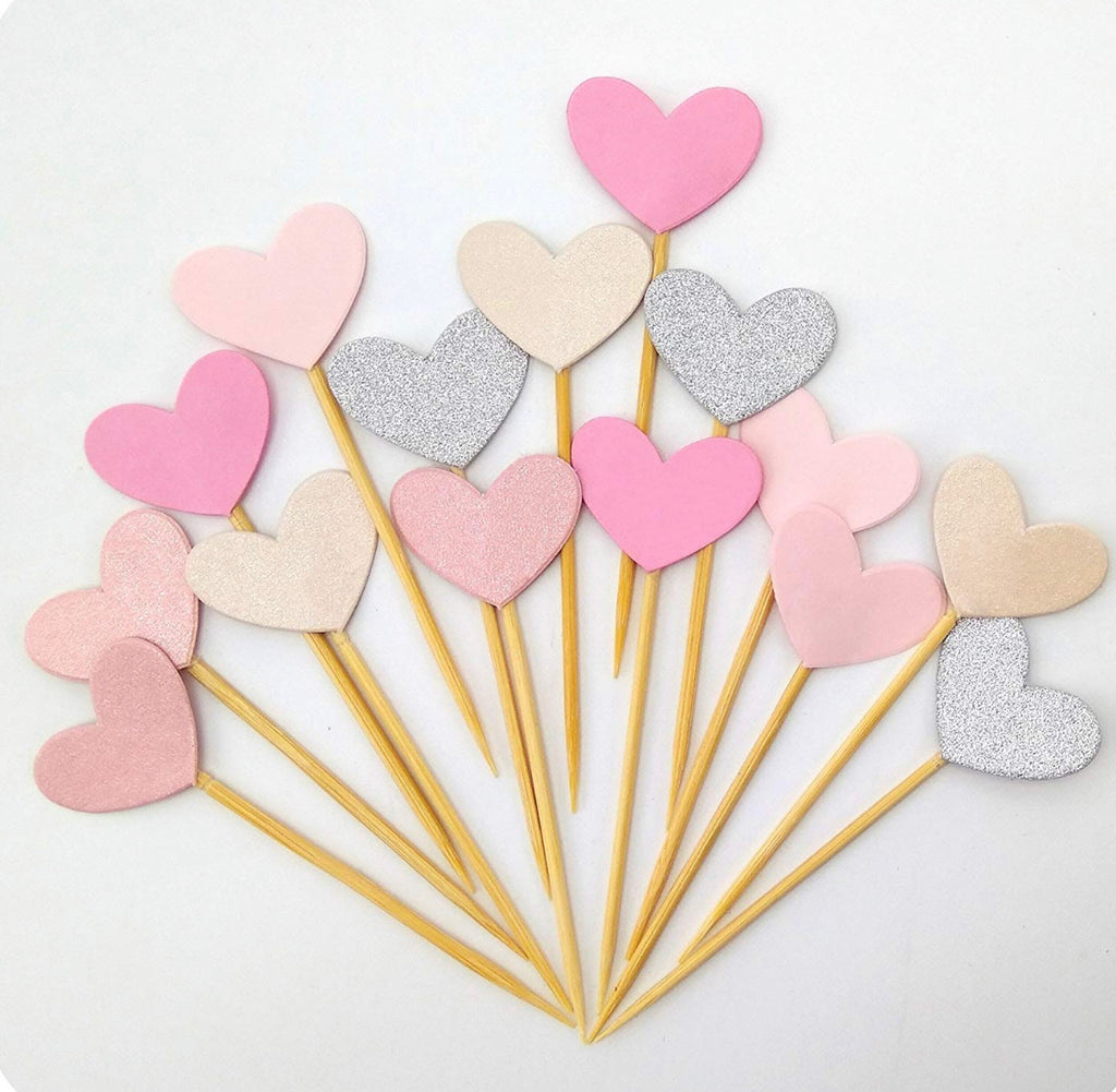 Heart Cupcake Toppers (6)