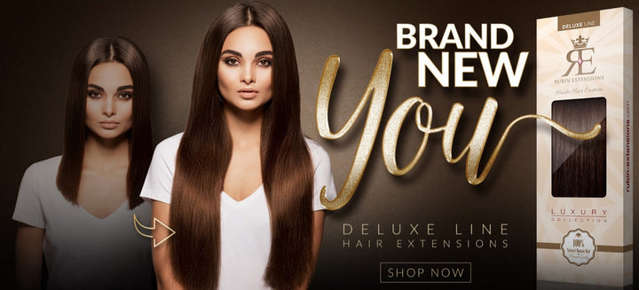 DELUXE CLIP ON HAIR EXTENSIONS 100% REAL HAIR!