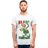 No Elf Control Christmas T Shirt - Purple Print House