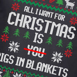 Funny Christmas Pigs in Blanket T Shirt - Purple Print House