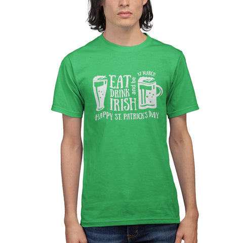 Eat Drink and Be Irish Green T Shirt - Purple Print House