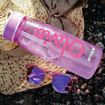 Personalised Water Bottle With Straw - 800ml - Purple Print House