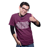 The World has bigger problems T Shirt - Purple Print House
