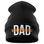 Worlds Greatest Dad Beanie Hat - Purple Print House