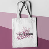 Wine and Food Shopper Tote Bag - Purple Print House