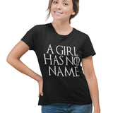 A Girl Has No Name T Shirt - Purple Print House
