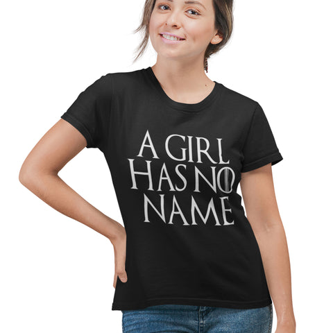 Image of A Girl Has No Name T Shirt - Purple Print House