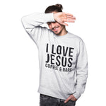 I Love Jesus Coffee and Naps Sweatshirt - Purple Print House