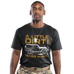 A Little Dirt Never Hurt T Shirt - Purple Print House