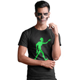 Walking Zombie in neon green printed T Shirt - Purple Print House