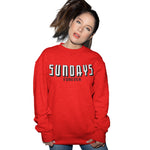 Sundays Forever Funny Red Sweatshirt - Purple Print House