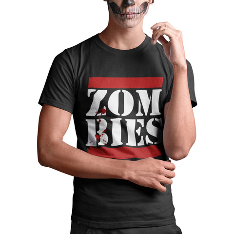 Zombies Black Halloween T Shirt - Purple Print House