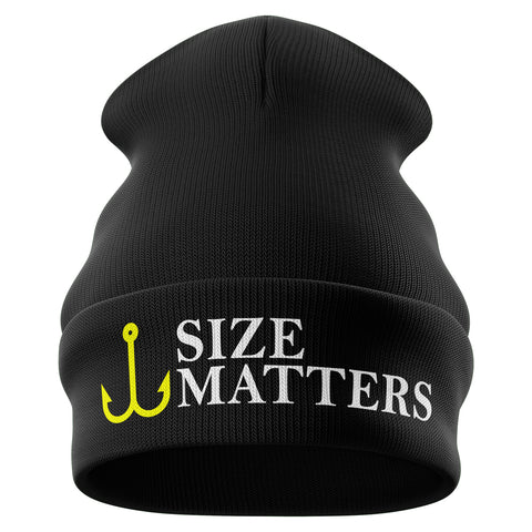 Size Matters Funny Beanie Hat - Purple Print House