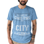 All I Want For Christmas Is A CITY Win Football T Shirt - Purple Print House