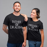 Matching Couples Father and Mother of Dragons T Shirt - Purple Print House