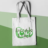 Avocado Addict Funny Shopper Tote Bag - Purple Print House