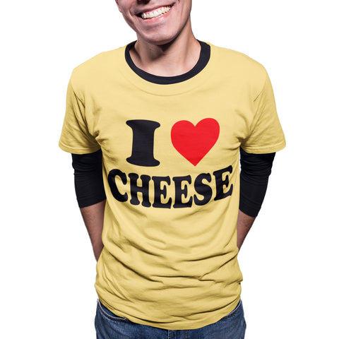 I Love Cheese Funny T Shirt - Purple Print House