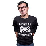Level Complete Birthday Gaming T Shirt - Purple Print House
