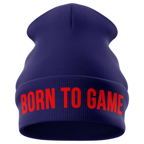 Born to Game Gaming Beanie Hat - Purple Print House