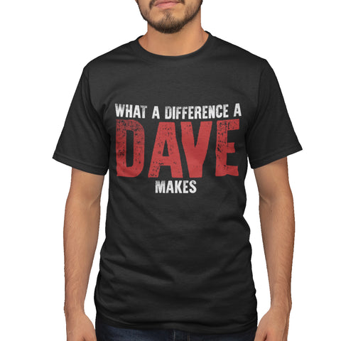A Dave makes all the difference Funny T Shirt - Purple Print House