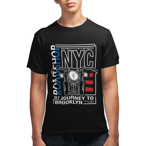 NYC Motorcycle T Shirt - Purple Print House