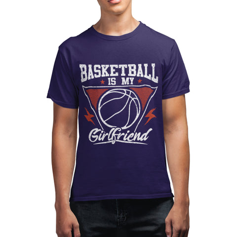Basketball Is My Girlfriend Funny T Shirt - Purple Print House