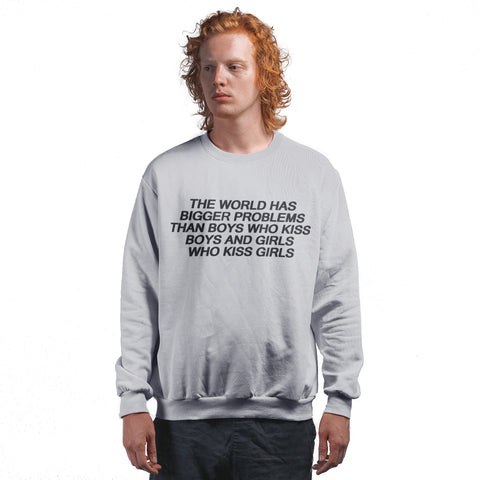 The World has Bigger Problems Pride Sweatshirt - Purple Print House