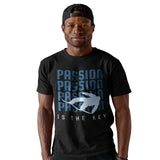 Passion is the key Snowboard Slogan T Shirt - Purple Print House