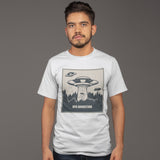 UFO Abduction T Shirt - Purple Print House