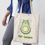 Cat-Ocado Shopper Tote Bag - Purple Print House