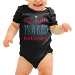 My Aunt is a bad influence Funny Baby grow - Purple Print House