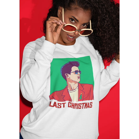 Last Christmas George Michael Sweatshirt - Purple Print House