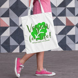 Vegan For Life Shopper Tote Bag - Purple Print House