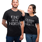 Matching Couples Queen and King of the North T Shirt - Purple Print House