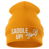 Saddle Up Horse Riding Beanie Hat - Purple Print House