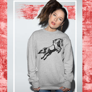 Horse Riding Sweatshirt - Purple Print House