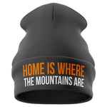 Home is where the Mountains are Beanie Hat - Purple Print House